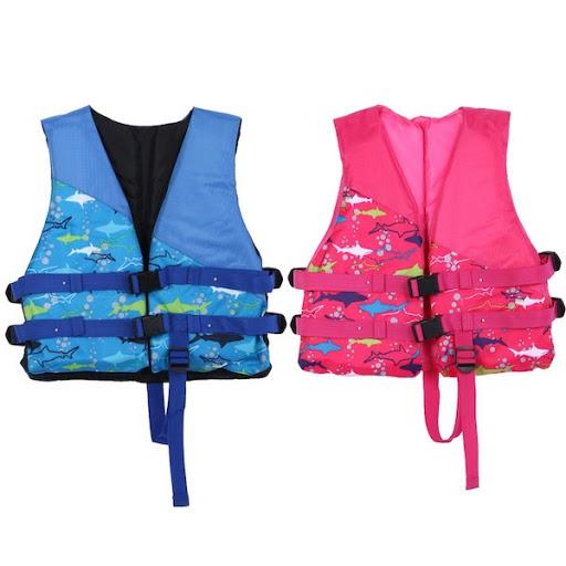 Lựa chọn áo phao bơi trẻ em có dây cầm